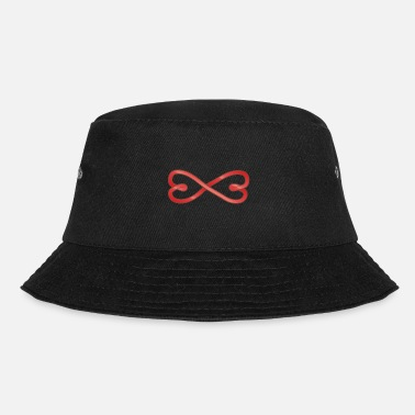 Marriage Infinity Shape Celtic symbols Valentine's Day heart infinity - Bucket Hat