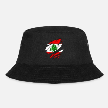 Country Flag Football Sport And Arab Art Jesus country flag lebanon - Bucket Hat