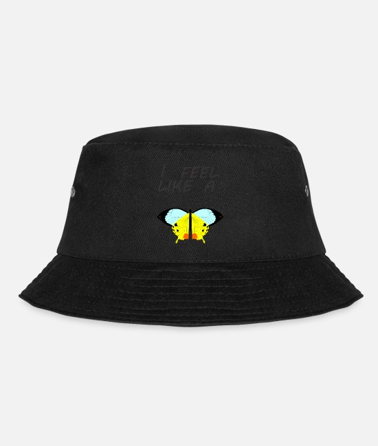 Angelwings Caps & Hats - Butterfly - Bucket Hat black