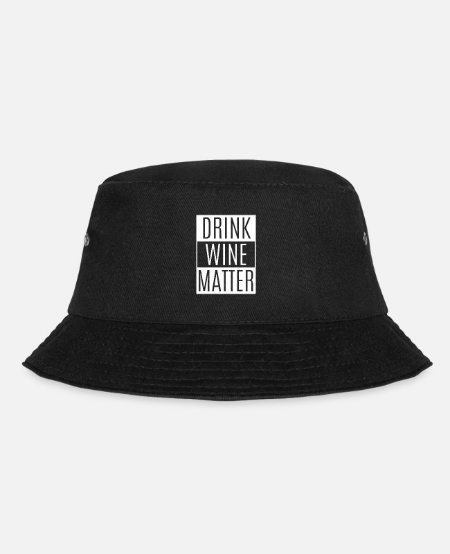 Christmas Caps & Hats - Wine saying - Bucket Hat black