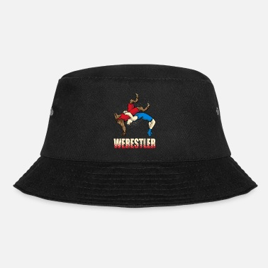 Werewolf Werestler. Funny Halloween Amateur Wrestler - Bucket Hat