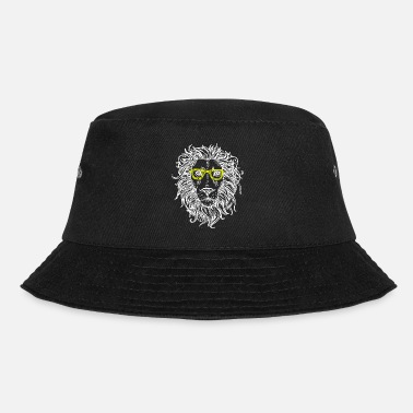 Lion Head Lion or lion's head with glasses in yellow - Bucket Hat
