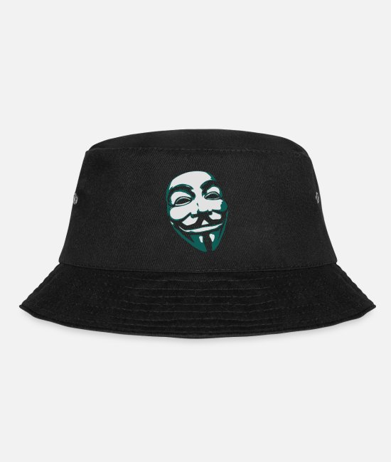 Hardstyle Caps & Hats - Anonymous Mask - Bucket Hat black