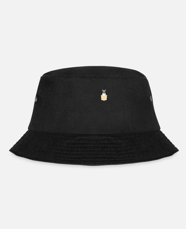 Funny Pictures Caps & Hats - Llama nieldiche funny animals - Bucket Hat black