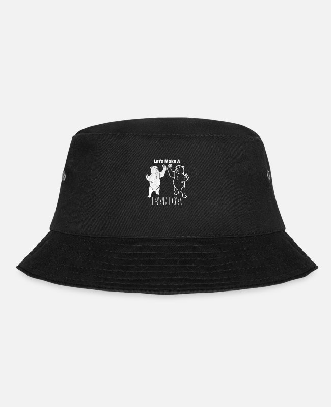 Funny Pictures Caps & Hats - Funny animals Panda - Bucket Hat black
