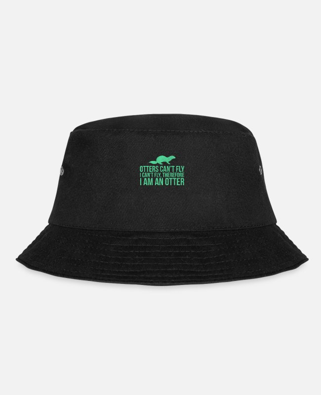 Funny Pictures Caps & Hats - Otter Funny animals - Bucket Hat black