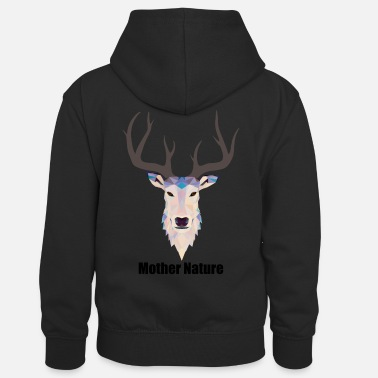 Nature Mother Nature - Kids' Contrast Hoodie