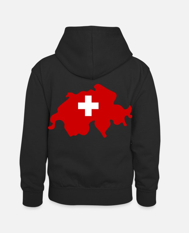 Red Hoodies & Sweatshirts - Switzerland - Kids' Contrast Hoodie black/red