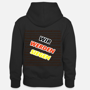 Surveillance State We'll win obliquely brown - Kids' Contrast Hoodie
