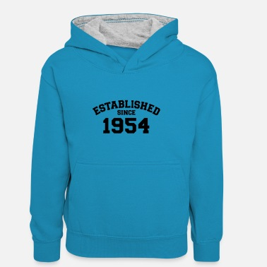Established Established 1954 - Teenager contrast-hoodie/kinderen contrast-hoodie