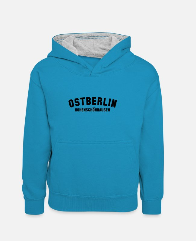 GDR Hoodies & Sweatshirts - HOHENSCHÖNHAUSEN - Kids' Contrast Hoodie peacock blue/heather grey