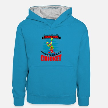 Moneygram Cricket all men are created equal but only the fin - Kinder Kontrast-Hoodie