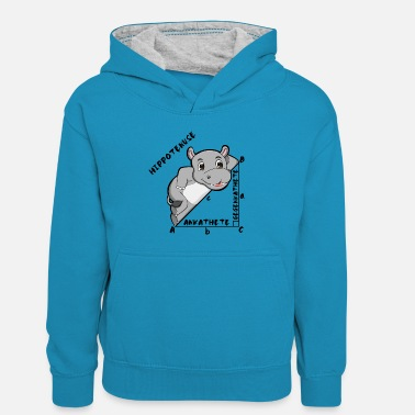 Pythagorean Hippotenuse - The Pythagorean Theorem - Kids' Contrast Hoodie