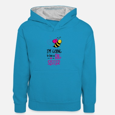 Bee I'm Going To Bee A Big - Kids' Contrast Hoodie