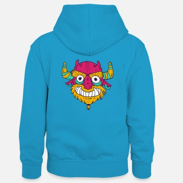 Cartoon Cartoon cartoon monster - Kids' Contrast Hoodie