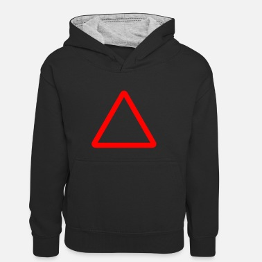 Kyltti Triangle Warning Sign - Kids' Contrast Hoodie