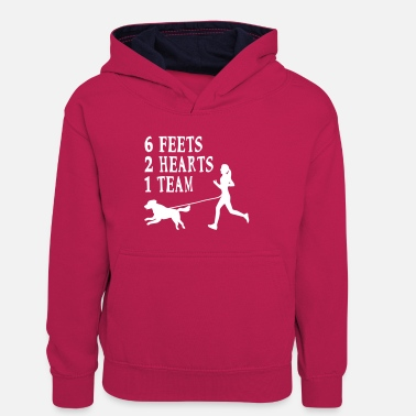 Canicross Hovawart jogging dog dog saying sport - Kids' Contrast Hoodie