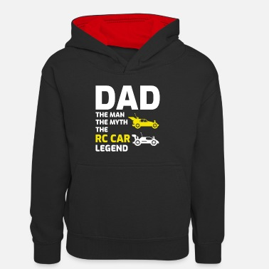 Builder RC Car 4x4 Off-road Race Racing Dad Fathers day - Teenager Contrast Hoodie