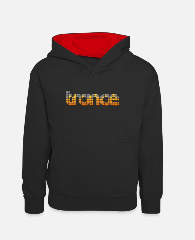 Guitar Hoodies & Sweatshirts - Trance EQ (Orange) - Teenager Contrast Hoodie black/red