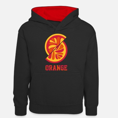 Orange Orange orange - Teenager Contrast Hoodie