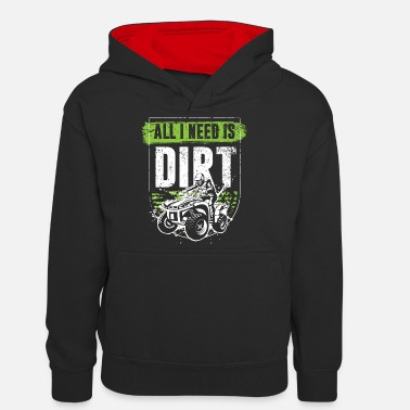 Machine Vintage Quad Grappige Quad Driver ATV Gift Young - Teenager contrast-hoodie
