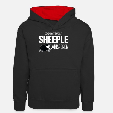 Stimmung Verschwörungstheoretiker Sheeple Whisperer Sheep To Peo - Teenager Kontrast-Hoodie
