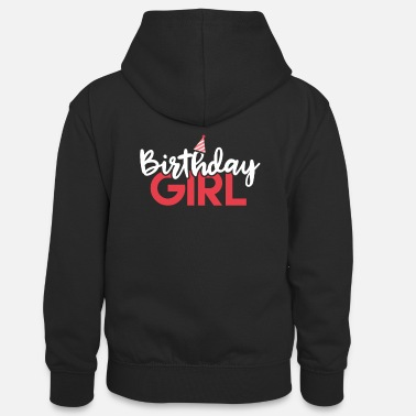 Birthday Party Birthday Girl Shirt - Gift - Teenager Contrast Hoodie