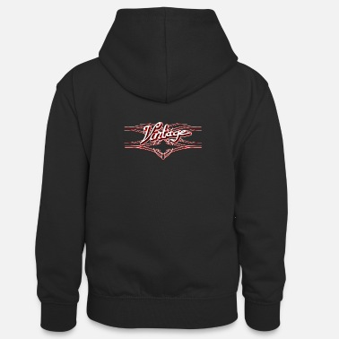 Pinstriping Vintage 3D red, Stylish design with pinstripes - Teenager Contrast Hoodie