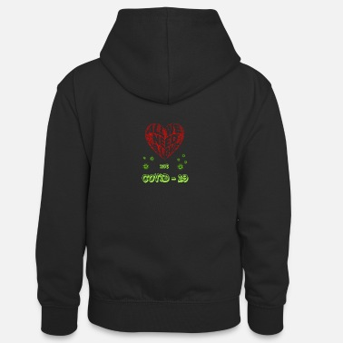 LOVE not COVID - 19 - Teenager Kontrast-Hoodie