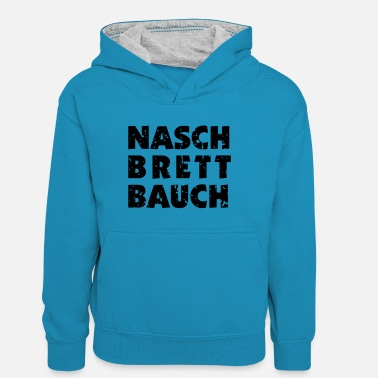 Squatters Nash / wash-board stomach - Teenager Contrast Hoodie
