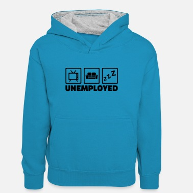 Unemployed Unemployed - Teenager Contrast Hoodie