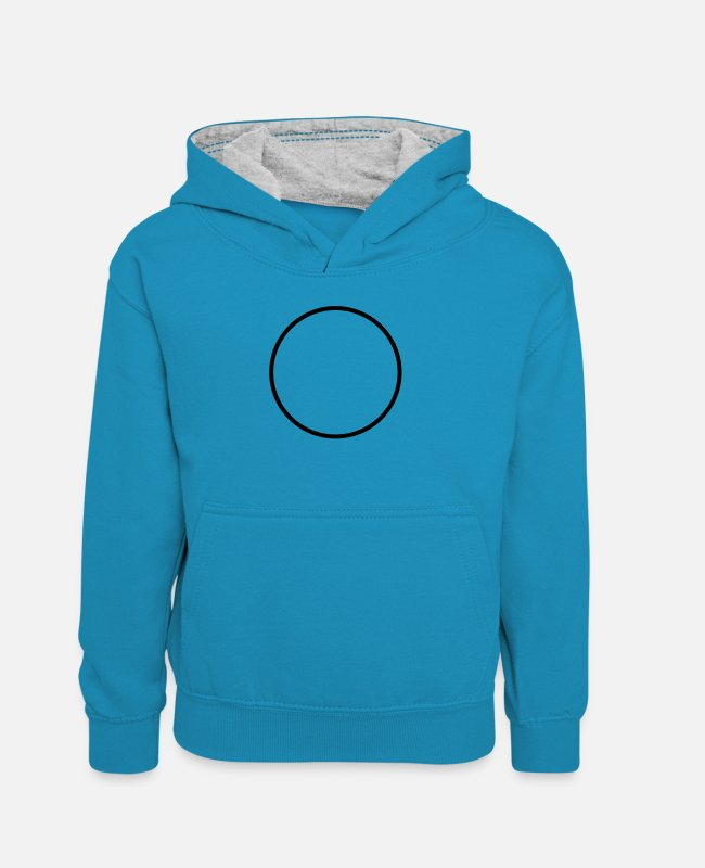 Circle Hoodies & Sweatshirts - ring - Teenager Contrast Hoodie peacock blue/heather grey