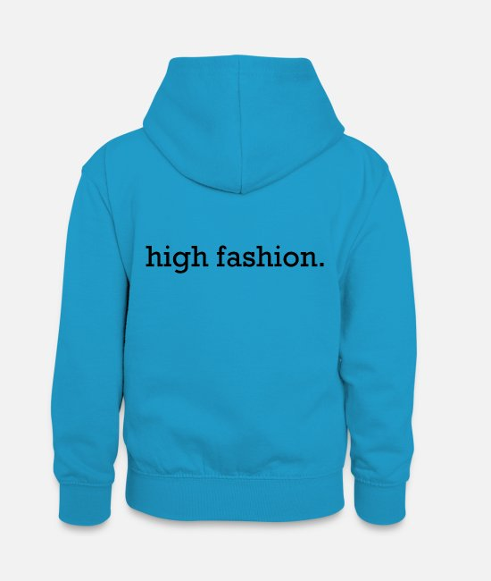 Highheels Pullover & Hoodies - high fashion black - Teenager Kontrast-Hoodie Pfauenblau/Grau meliert