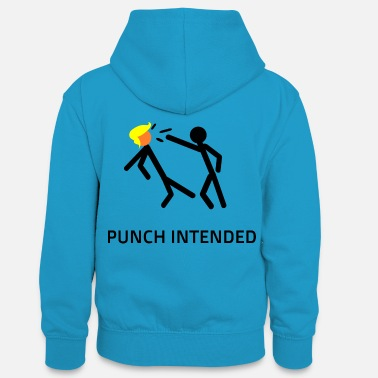 PUNCH INTENDED - Teenager Contrast Hoodie