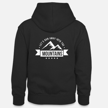 Mountains mountain gift hiking hiker - Teenager Contrast Hoodie