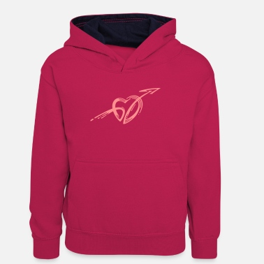 Cupid Cupid's arrow - Teenager contrast-hoodie