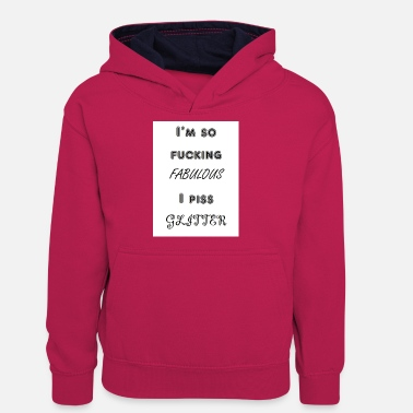 Humour Glitter humour - Teenager Contrast Hoodie