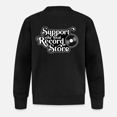 Support your local record store, vinyl - Baseball Jacket
