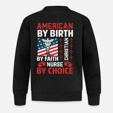 Xmas American by Birth Christian by Faith Nurse by Choi - Chaqueta de béisbol