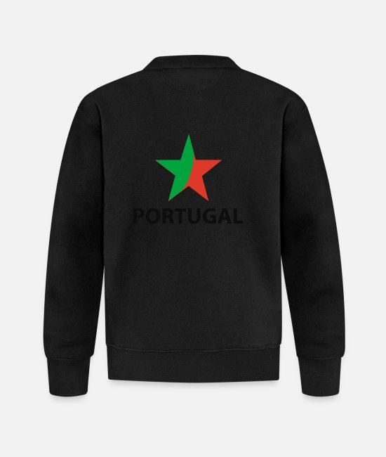 Fan Jackets - portuguese star - Baseball Jacket black