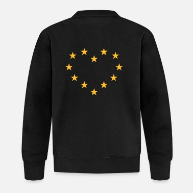 We Love Europe Europa Herz (Europe / Heart / Love) - Baseball Jacke