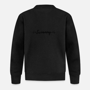 Mother's Day Swimming Heartbeat - Baseball Jacket