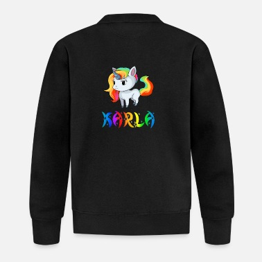 Karla Karla unicorn - Baseball Jacket