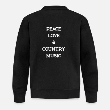 Countrymusic PEACE LOVE COUNTRYMUSIC - Baseball Jacket