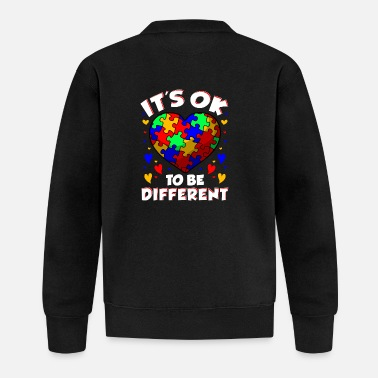 Different It's OK To Be Different Autism Awareness Heart - Baseball Jacket