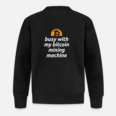 Bitcoin Mining Rig Machine Crypto Coin Currency Tr - Baseball Jacket
