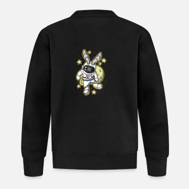 Space Bunny Easter Space Astronaut Gift - Baseball Jacket