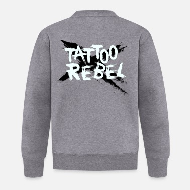 Style TATTOO REBEL Sort X - Baseballjakke