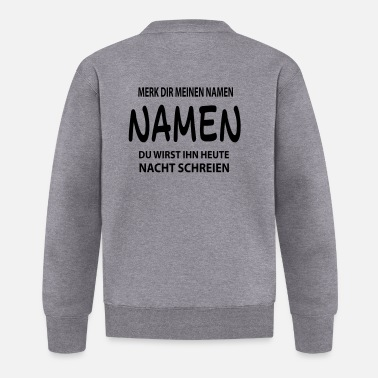 Name namen - Baseball Jacke