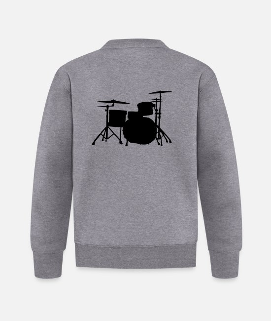 Bass Jackets - Drums Silhouette ReDesign 2 - Baseball Jacket graphite heather